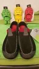 NEW Crocs Linden Comfortable Loafers Slip On light grey/blk  Mens 7 RARE