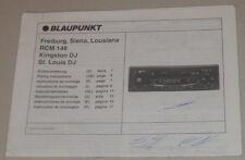 Einbauanleitung Blaupunkt Autoradio Freiburg, Siena, Lousiana RCM 148 - 03/1998