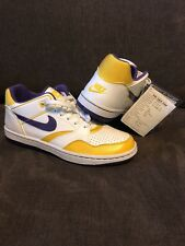 NWT SAMPLE DS 2011 NIKE SKY FORCE LOW 88' LAKERS Sz 9-RARE JUST DON