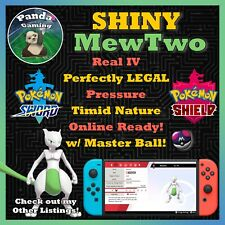 ✨SHINY MewTwo ✨Master Ball ✨6IV Pokemon Sword Pokemon Shield ✨LEGAL ✨BEST