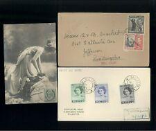 3 Malta Cover Postcard Sliema FDC Princess Elizabeth Wales Self Government C61