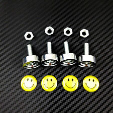 Licence Number Plate Frame Bolts M6 Screws Happy Smile Face Standard Stainless