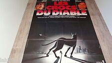 LES CROCS DU DIABLE !  chien doberman : affiche cinema 1976
