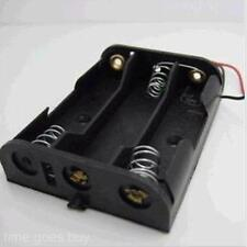 Durable 3 AA Battery 1.5V Box Holder Case & Lead for DIY Experiment Test Storage