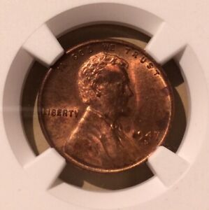 USA 1947 D One Cent NGC MS 63 RB - Lincoln Wheat