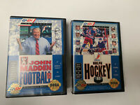 NHLPA Hockey '93 Complete & John Madden Football '93 Sega Genesis Lot Of 2 Games