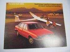 Automobile Car Sale Brochure Audi 4000