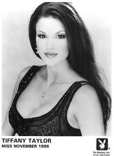 Playboy Playmate Tiffany Taylor Portrait 8x10 B&W Head Shot Photo Original