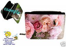 1portefeuille shabby chic romantique rose  personnalisable avec prénom réf 41