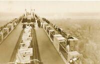 NEW YORK CITY – RCA Building Roof Rockefeller Center Real Photo Postcard rppc