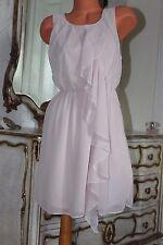 S1 H&M rosa chiaro al ginocchio in chiffon abito donna EUR 34