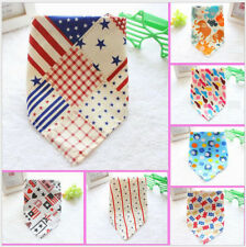 SJJ Lot 10 Pcs Cotton Large Puppy Dog Bandana Tie on Pet Bows Scarf Grooming