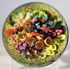 LARGE Exquisite CATHY RICHARDSON Tropical FISH Glass AQUARIUM Paperweight
