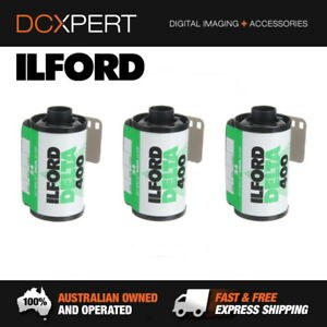ILFORD DELTA 400 ISO 400 35MM 24 EXPOSURES BLACK & WHITE FILM (1748165) (3 PACK)