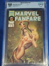Marvel Fanfare #57 CBCS 9.8 Shanna painted cover white pages not cgc