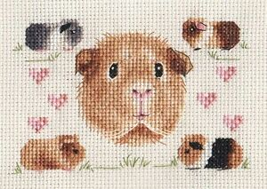 GUINEA PIG PARTY !  Complete counted cross stitch kit  *FIDO STITCH STUDIO