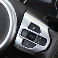 For Kia Sorento 2016-2018 Matte Chrome Interior Steering Wheel Cover Trim