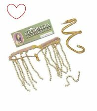 Ladies Cleopatra Accessories Kit Accessory Gold Armband Crown Fancy Dress