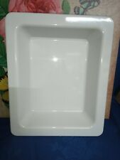 More details for 1 x white dalebrook melamine 1 / 2 gastro extra deep dish / serving tray