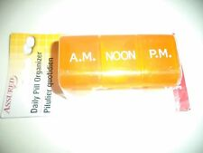 Three Compartment Daily Pill Organizer A.M  NOON And P.M.