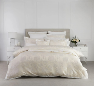 Catalina Quilt Cover Set Pearl By Logan and Mason Platinum
