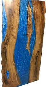 Blue Epoxy Furniture Decorative  Resin Wooden Walnut Table Dining,Living Garden