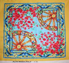 Tessuto Abbigliamento Moda Donna Raso Sicily Sicilia DG MODULO Ruota 70x140 cm