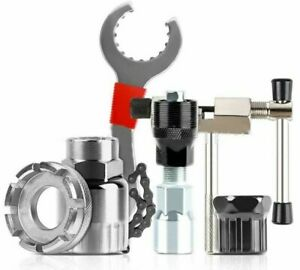 Bike Repair Tool 6 PCS Kit Crank Chain Cutter Extractor Bracket Freewheel Puller