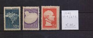 ! Brazil  1940. Stamp. YT#374/376. €36.00!