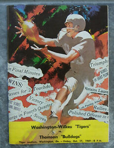 10/17/1969 Washington-Wilkes Ga vs Thomson High School Football Program-Coke Ad