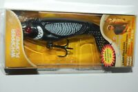 "river2sea bass lure topwater whopper plopper 110 4 3/8""  1oz  loon black"