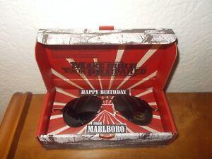 Marlboro Happy Birthday Promo Black Aviator Sunglasses w/Pouch NIB