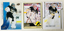 3 Marc-Andre Fleury Cards 2015-16 UD Ice #41 2011-12 Score #379 2012-13 OPC #166