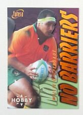 1996 Futera Rugby Union Hobby No Barriers insert card #NB5 Willie Ofahengaue