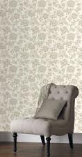 RASCH Elegance WALLPAPER Cream Silver Metallic Floral Textured Feature   204100