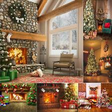 Fotografía telones de fondo Vinilo De Navidad Pared Fuego telón de fondo Foto Fondo Navidad