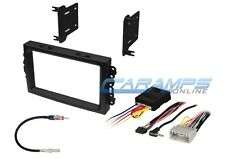 DOUBLE 2 DIN CAR STEREO RADIO NAV GPS DASH INSTALLATION KIT W/ INTERFACE HARNESS