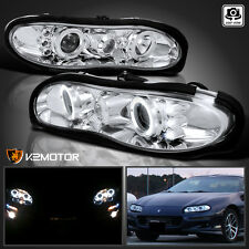 1998-2002 Chevy Camaro Halo Projector LED Headlights Chrome