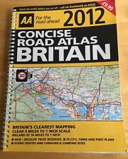 AA 2012 Concise Road Atlas / Map - Britain - Clear 4 Miles to 1 Inch Scale -Used