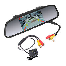 "4.3"" Car TFT LCD Monitor Mirror + Full HD Reverse Rear View Backup Camera Kit"