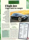 Eagle Jazz 4 Cyl. Plymouth Chrysler Prototype USA Concept Car Auto FICHE FRANCE