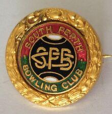 South Perth Classic Bowling Club Badge Rare Vintage (K7)