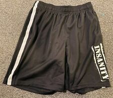 Team Beachbody Men's Small Insanity Black gym Shorts no drawstring