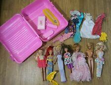 Vintage! Large Lot 1966-1987 Mattel Barbie 7 Dolls Some Twist Waist Clothes
