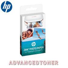 "HP Sprocket ""Zink"" Sticky Backed 20 Sheet Pack of 2""x 3"" Photo Paper W4Z13A"