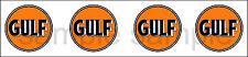(4) 1.25 INCH GULF GASOLINE OIL DECAL STICKER