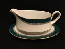 NORITAKE LYNDHURST  GREEN FOR HOUSE OF FRASER SAUCE / GRAVY BOAT WITH STAND