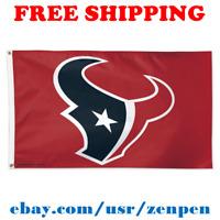 Deluxe Houston Texans Team Logo Flag Banner 3x5 ft NFL Football 2019 NEW
