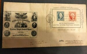 United States 100th anniversary postage stamps envelope 1947