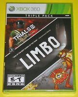 Xbox 360 Video Game - Triple Pack: Limbo, Trials HD and Splosion Man (New)